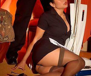 Asian-American female Kitty Langdon turns her man hard..