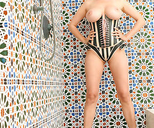 Hot Asian MILF pornstar Tera Patrick in heels licking her..