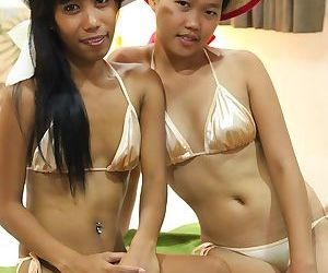 Slim Filipina girls Jeremay and Mayka free tight pussies..