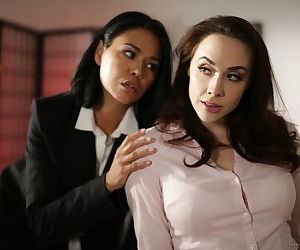 Asian boss lady Dana Vespoli seduces her secretary Chanel..