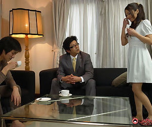 Japanese female Aoi Miyama spreading for cock and..