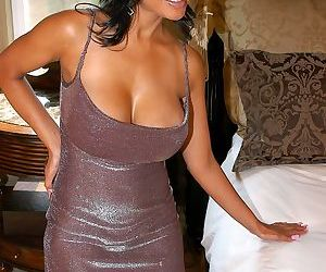 Naughty Indian babe Priya Rai gets a big cock inside of..