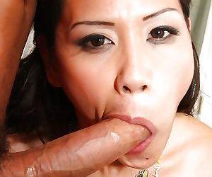 Asian MILF Jessica Bangkok deepthroat massive penis..