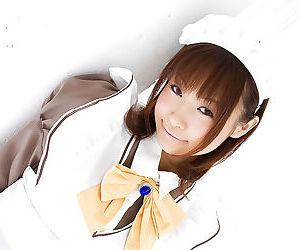 Sexy asian schoolgirl Misa Kikouden uncovering her petite..