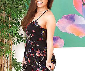 Big ass brunette asian slut Kalina spreading wide her ass..