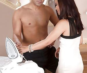 Asian brunette Cristine Akira Lee taking cum facial after..