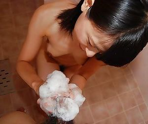 Asian teen Miki Kamisaka enjoys sex toys play turning into..