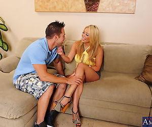 Busty asian gal Mia Lelani seduces and fucks her..