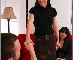 Lustful asian MILF Annie Cruz fucking hard cock with her..