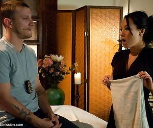 Impudent police officer anally dominates over Asian whore..