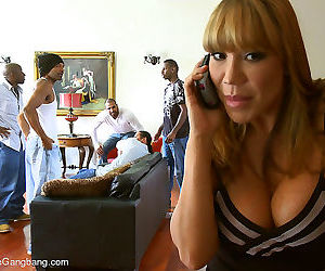 Rich milf taken down & gangbanged by her daughters black..