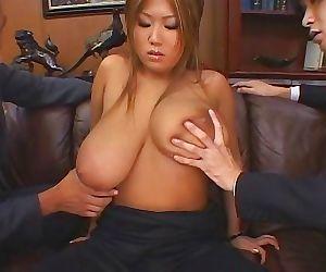 Japanese busty asian rui akikawa fucked in threesome -..