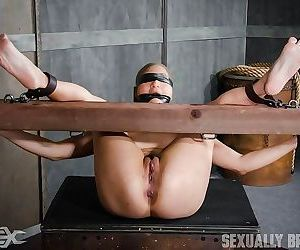 Hot asian is bound, hooded, gagged, blindfolded, brutally..