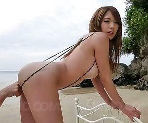 Busty asian nami itoshino rides hard cock outdoors - part..