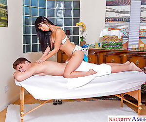 Horny asian masseuse marica hase finishes massages with..