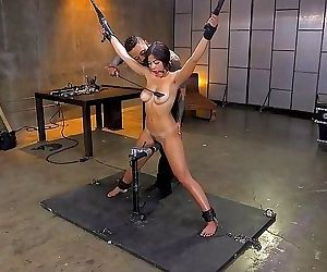 Kendra spade busty asian is bound in rope for spanking and..