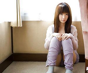 Loveable asian teen with neat fanny Hina Kurumi slipping..