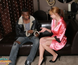 Asian tiny girl Maya Hill gets her black boyfriend into a..