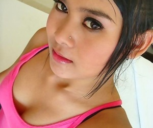 Beautiful thai amateur ouy strips and has sex then gets a..
