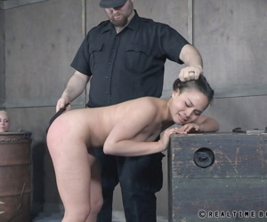 Cute Asian slave bound for butt plugging & painful..
