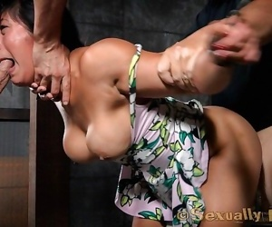 Big breasted asian mia li is toned and muscular, with the..
