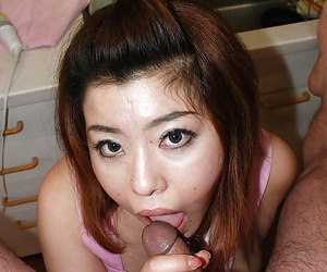 Fatty asian MILF Kana Miyagi gets her hairy pussy shagged..