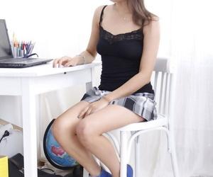 Cute Asian teen Asa Belle sports a prolapsed anus after..