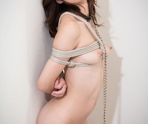 Petite Japanese sex slave is forced to suck a cock before..