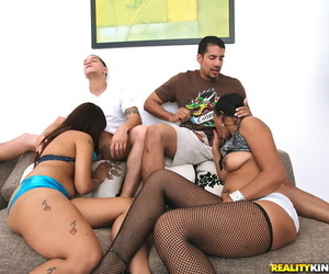 Interracial groupsex with Asian and black asses of..