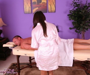 Undressing Asian girl Annie Lee is showing her tits while..
