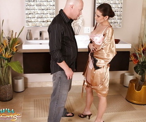 Likable Asian fox Ryder Skye oils long pink cock and sucks..