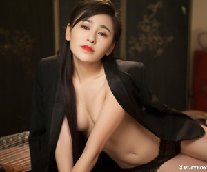 Asian goddess Wu Muxi posing for naked playboy pictures..