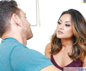 Sexy Asian MILF wife Kaylani Lei baring tiny boobs for..