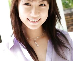 Adorable asian babe Kurumi Morishita uncovering her tiny..
