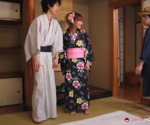 Japanese housewife Eri Hoshikawa got her coochie creampied..