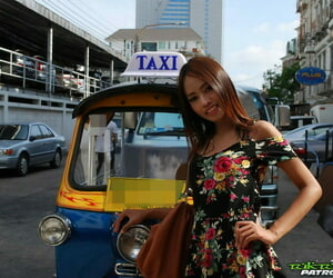 Charming Thai girl Nung disrobes before being banged by a..