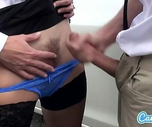 Mother and Stepson Jelly on Pussy. Cum in Panties, Wet..