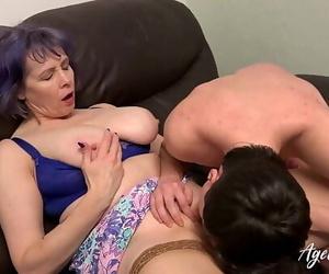 AgedLovE Busty Chick Hard Rough Mature Lovemaking 6 min..