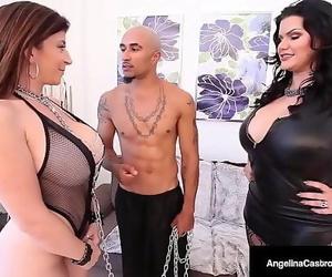 Fat Caked Latina Angelina Castro & Stiff Dick Nail Sara..