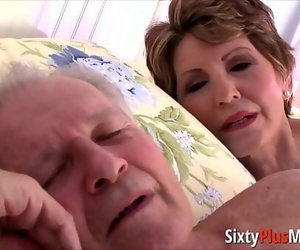 Big-ass granny gets pounded in doggy 6 min
