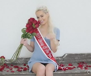 Small Blonde Babe Elsa Jean is Crowned Virgin of the Yr