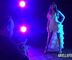 Behind-the-scenes glamour shoot with Ariella Ferrera