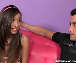 Asian Teen Seize Her Stepdads Ass