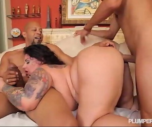 BBW Erika Xtasy Dual Ravaged BY 2 Monster Mushy