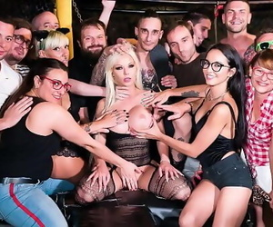 CROWD BONDAGEBusty Barbie Sins enjoys torment and harsh sex