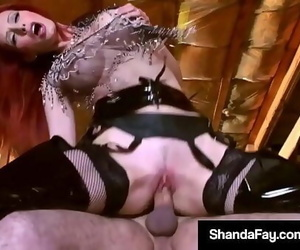 Canadian Cowgirl Shanda Fay Rails Her Pony Until He Cums!