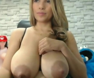 Huge Titted Lactating Latina Honey Splashes Milk and Deep..