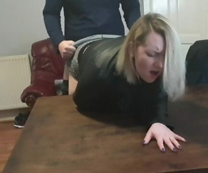 Wifey Fucked Hard with a Big Orgasm over Table