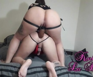 Ass fucking Pump and Pegging his Anus with Big black cock..