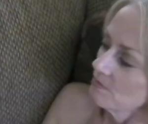 Fledgling GILF Massages and Cumshot